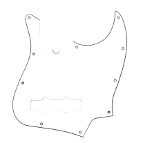 Fender Modern Pickguard, Jazz Bass, 10-Hole - White 3-Ply