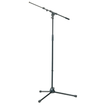 K&M 21090B Tripod Microphone Stand with Telescoping Boom