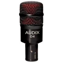 Audix D4 Hyper-Cardioid Dynamic Instrument Microphone