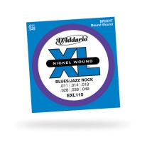 D'Addario EXL115 Nickel Blues/Jazz Electric Guitar Strings