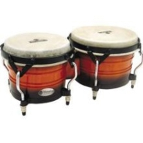 Latin Percussion Matador Wood Bongos in Vintage Sunburst