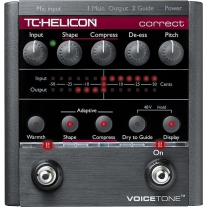TC Helicon Voicetone Correct Pitch, EQ & Compression Pedal