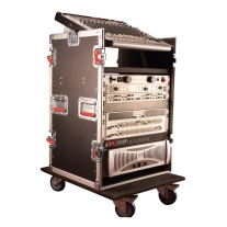 Gator 12-Space 19 Flight Rack with Heavy Duty Casters
