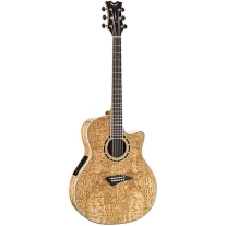 Dean Exotica EQA Quilted Ash Natural Acoustic/Electric Guitar