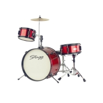 "Stagg TIMJ312BL 3 Piece Junior Drumset Red 12"" Includes Throne An"