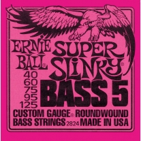 Ernie Ball 2824 Super Slinky 5-String Bass Nickel Wound .040 - .125
