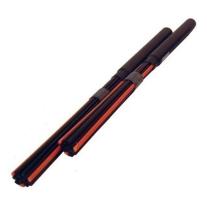 Flix Black and Orange Fiber Rods