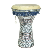 Mid East WDEL Wooden Doumbek with Mosaic Pattern