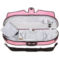BOBELOCK PUFFY HALF MOON SUSPENSION 4/4 VIOLIN CASE in PINK