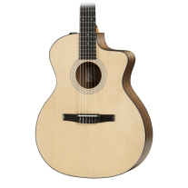 Taylor 114CEN Nylon String Grand Auditorium Acoustic Electric Guitar with Case