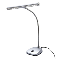 K&M 12297 LED Piano Lamp in Silver