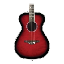 Daisy Rock Pixie Spruce Top Acoustic-Electric Guitar Raspberry Burst