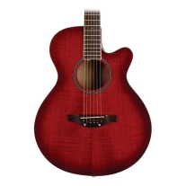 Daisy Rock Sophomore Acoustic Guitar, Trans Cherry, 14-7503