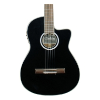 Cordoba Fusion Series 14 Jet Acoustic Electric Nylon String Thin Body in Black