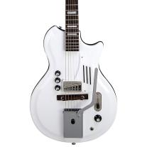 Supro Americana Series White Holiday Single Pickup Electric Guitar