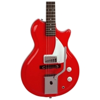 Supro Americana Series Belmont Single Pickup Electric Guitar In Poppy Red