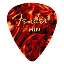 Fender 351 Shape Classic Thin Celluloid Picks, 12-Pack, Shell