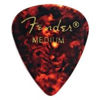 Fender 351 Shape Medium Classic Celluloid Picks, 12-Pack, Red Moto