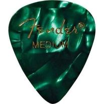 Fender 351 Premium Guitar Picks - Medium Green Moto - 12-Pack