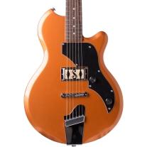 Supro Jamesport Single Pickup Solid Body Electric Guitar In Bronze