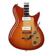 Eastwood Guitars Rivolta Combinata Deluxe Tremolo In Autunno Burst