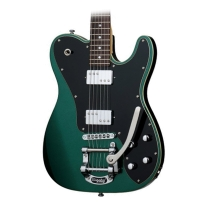 Schecter Retro Series PT Fastback IIB Electric Guitar Bigsby Dark Emerald Green