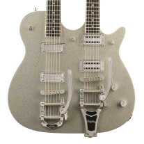 Gretsch G5265 Electromatic® Jet Double Neck Electric Guitar Silver Sparkle