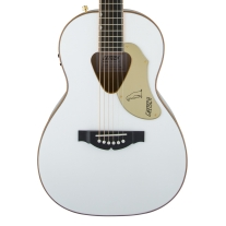 Gretsch G5021WPE Rancher Penguin Parlor Acoustic Electric Guitar in White