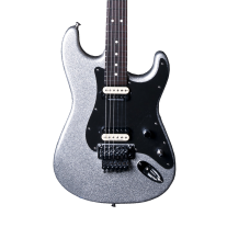 Charvel SD1 FR Super Stock Electric Guitar in Silver Sparkle Flake
