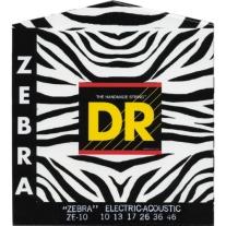 DR Strings ZAE10 Zebra Acoustic Electric Guitar Strings
