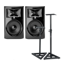 "JBL 308P MkII - Powered 8"" Two-Way Studio Monitor Pair with Speaker Stands"