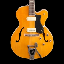 Guild X-175B Manhattan w/ Bigsby Blonde Newark St. Series Archtop Guitar w/ Case