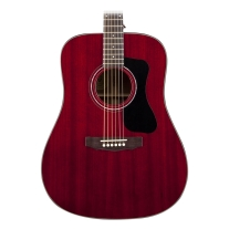 Guild GAD Series D-125 Mahogany Dreadnought Acoustic Guitar Cherry Red w/ Case