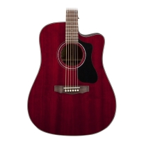 Guild GAD Series D125ce Mahogany Dreadnought Acoustic Electric Cherry Red W/Case