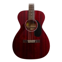 Guild GAD Series M120 Solid Mahogany Concert Acoustic Guitar Cherry Red w/ Case