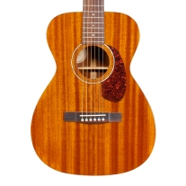 Guild M120E Mahogany Concert Acoustic Electric Guitar in Cherry with Case