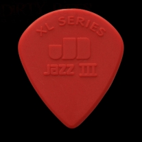 Dunlop 47PXLN Nylon Jazz III XL Guitar Picks Red 6-Pack
