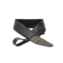 DR Strings Glove Leather Padded Guitar Strap in Black