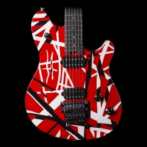 EVH Wolfgang Special Striped Red, Black and White Stripes