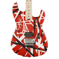 EVH® Striped Series Electric Guitar Red with Black Stripes