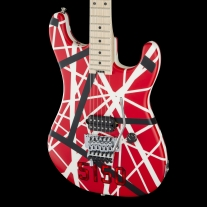 EVH Striped Series 5150® Electric Guitar Red, Black and White Stripes