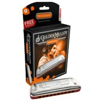 Hohner 542pbx-A Progressive Golden Melody Harmonica in KEY OF A