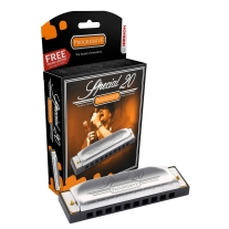 Hohner 560pBx-A Progressive SPECIAL 20 Harmonica in KEY OF A