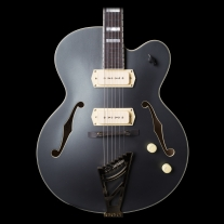D'angelico EX-59 Deluxe Semi Hollow Electric Guitar in Midnight Matte