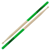 Zildjian 5AMG 5A MAPLE GREEN DIP DRUMSTICKS