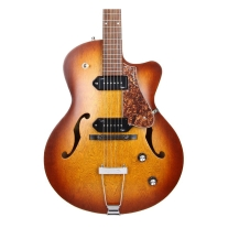 Godin 5th Avenue Kingpin 2 Cutaway Cognac Burst W/Case