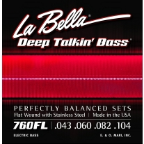 La Bella 760FL Deep Talkin' Bass Flatwound Bass Strings - Light