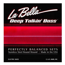 La Bella 767-6S Stainless Steel Round 6 String Bass Set