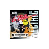La Bella 800L 12-56 Black Nylon Tape Wound Electric Strings