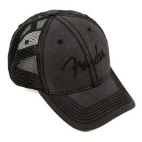 Fender Blackout Trucker Hat, Black, One Size